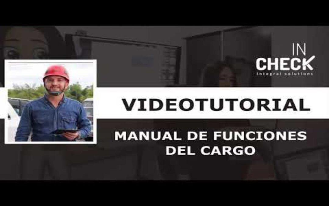 Tutorial Manual de Funciones del Cargo